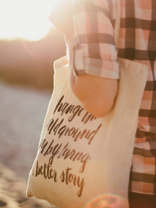 Live a better story bag